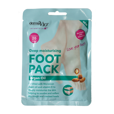 DermaV10 Deep Moisturising Foot Pack Argan Oil 1 pair