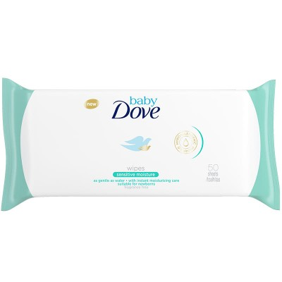 Dove Baby Wipes Sensitive 50 st