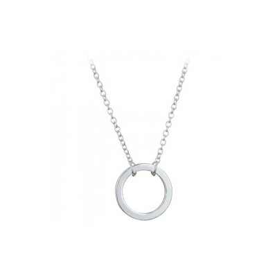 Everneed Kia Circle Necklace Silver 51,5 cm