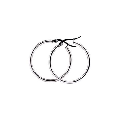 Everneed Mille Small Hoop Örhängen Silver Finish 15 mm