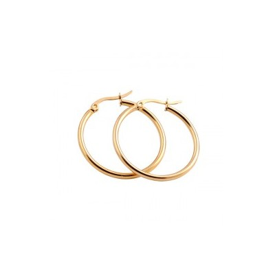 Everneed Mille Medium Hoop Øreringe Guld 20 mm