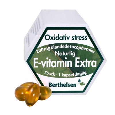 Berthelsen E-vitamin Extra 200 mg 75 kapsler