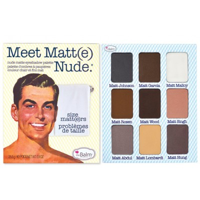 The Balm Meet Matte Nude Size Matters Eyeshadow Palette 1 kpl