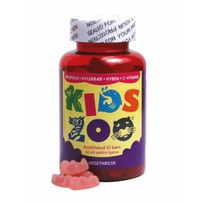 Kids Zoo Propolis + Hyldebær + Hyben + C-vitamin 60 stk