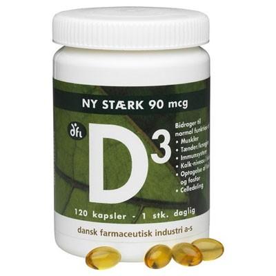 DFI Vitamin-D3 90 mcg 120 stk