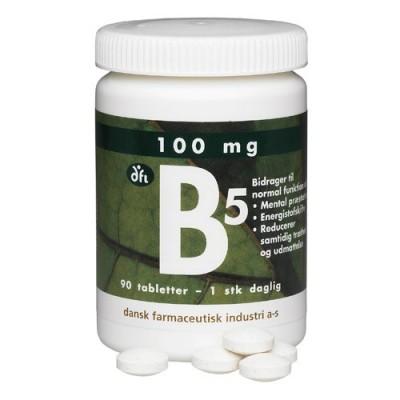 DFI Vitamin-B5 100 mg 90 stk