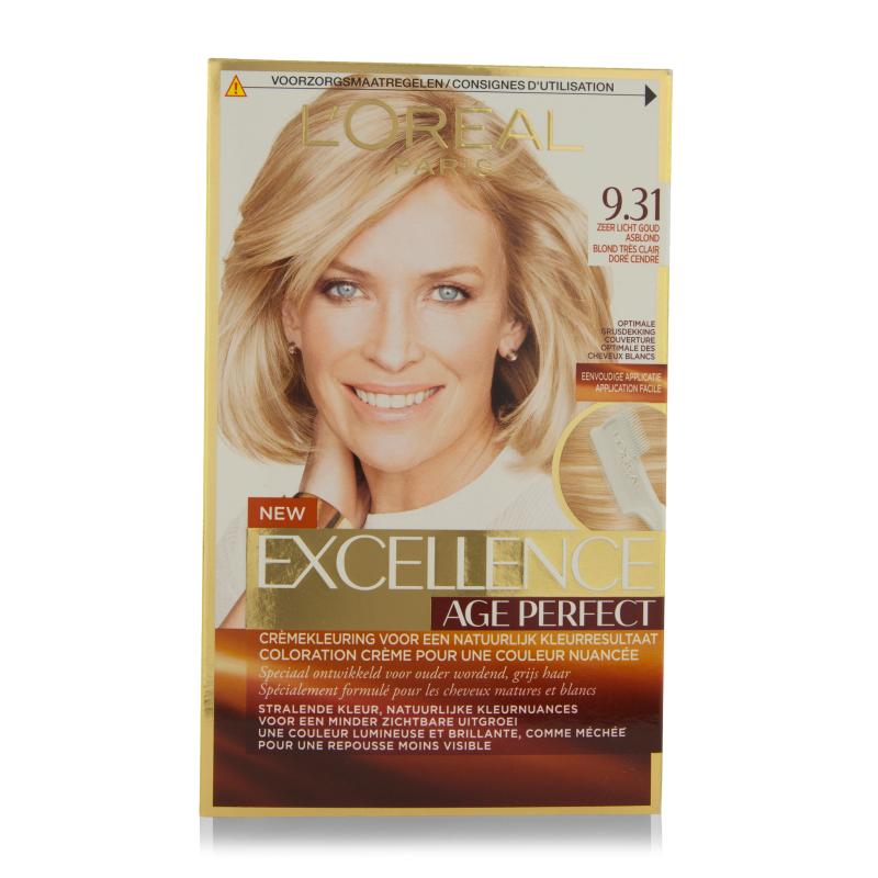 L'Oreal Excellence Age Perfect Hair Color 9.31 Light ...