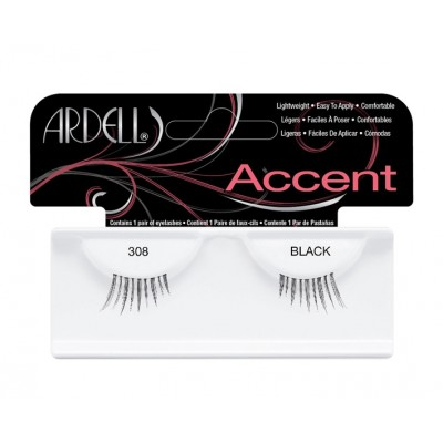 Ardell Accents False Lashes 308 Black 1 Paar