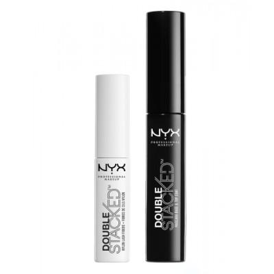 NYX Double Stacked Lash Fibres & Fiber Mascara 01 Black 1 g + 11 ml