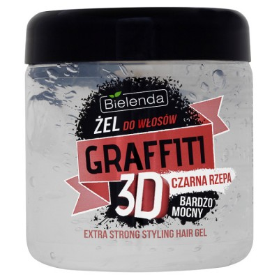 Bielenda Graffiti 3D Black Turnip Extra Strong Hair Gel 250 ml