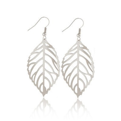 Everneed Siv Leaf Earring Silver 4,5 cm