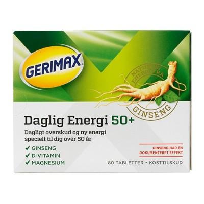 Gerimax Daglig Energi 50+ 80 stk