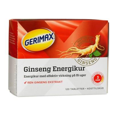 Gerimax Ginseng Energikur 120 stk