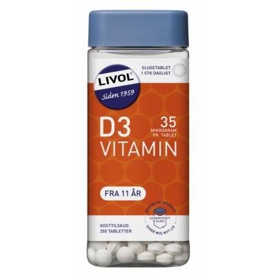 Livol Mono Stærk D-Vitamin 350 stk