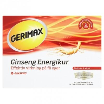 Gerimax Ginseng Energikur 150 stk