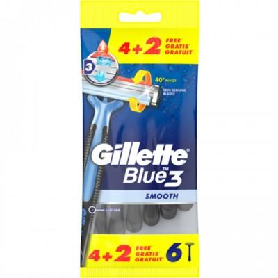 Gillette Blue3 Disposable Black Razors 6 pcs