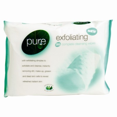 Pure Exfoliating Complete Cleansing Wipes 20 pcs