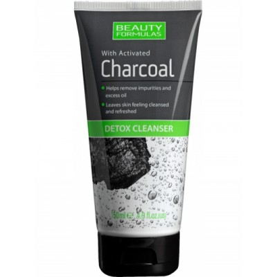 Beauty Formulas Charcoal Detox Cleanser 150 ml