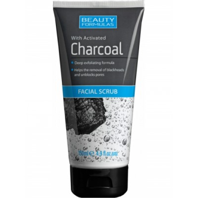 Beauty Formulas Charcoal Facial Scrub 150 ml