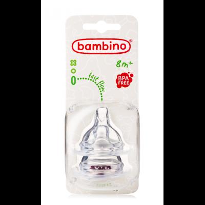 Bambino Fast Flow Flaskesmokk 8mdr+ 2 stk
