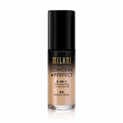Milani Conceal + Perfect 2in1 Foundation + Concealer 04 Medium Beige 30 ml