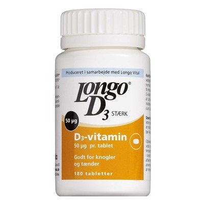 Longo D3 Vitamin Sterk 180 stk