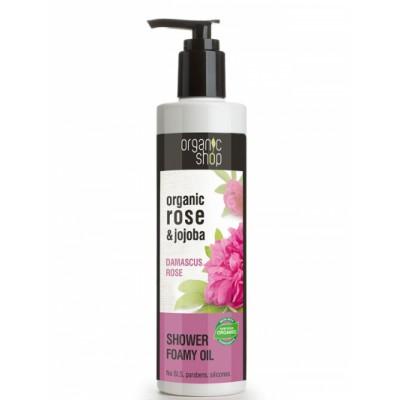 Organic Shop Organic Rose & Jojoba Shower Foamy Oil 280 ml