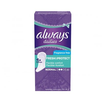 Always Fresh & Protect Pantyliners Normal 20 st