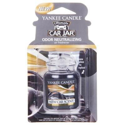yankee candle ultimate car jar new car scent air freshener 1 pcs. Black Bedroom Furniture Sets. Home Design Ideas