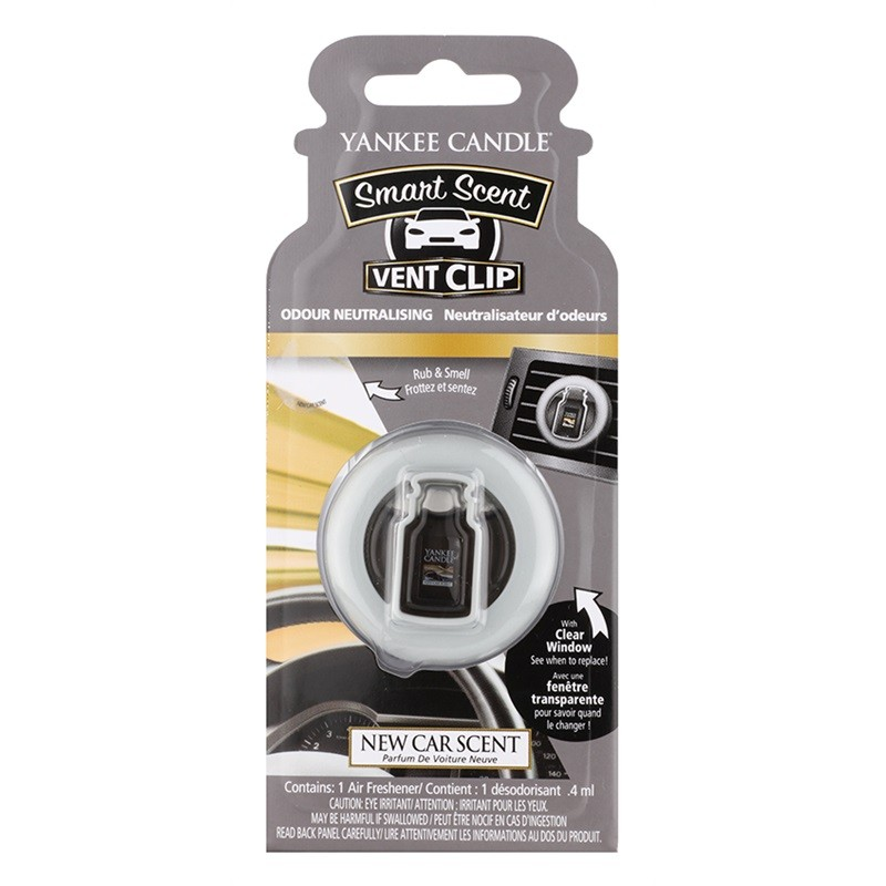 yankee candle car vent clip new car scent air freshener 4 ml kr. Black Bedroom Furniture Sets. Home Design Ideas