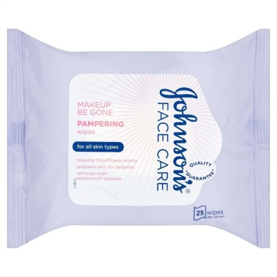 Johnson's Makeup Be Gone Pampering Wipes 25 kpl 25 kpl