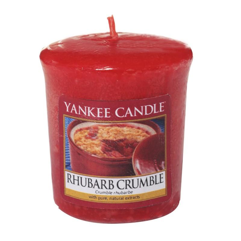 how to make mini rhubarb crumble
