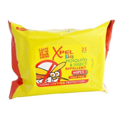 Xpel Kids Mosquito & Insect Repellent Wipes 25 pcs