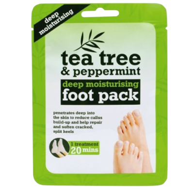 Tea Tree Deep Moisturising Peppermint Foot Pack 1 pair