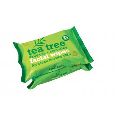 Tea Tree Cleansing Facial Wipes 2 x 25 stk