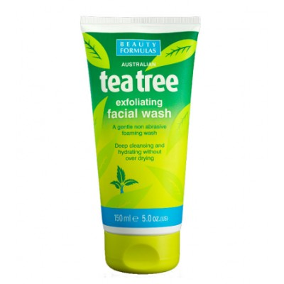 Beauty Formulas Tea Tree Exfoliating Facial Wash 150 ml