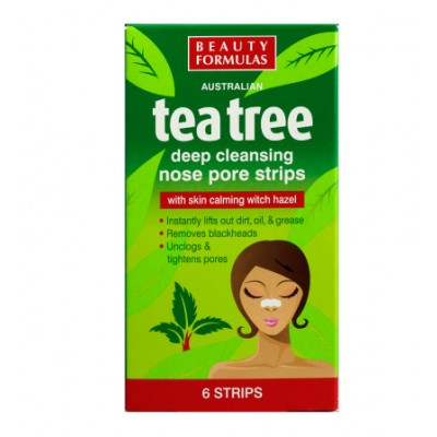 Beauty Formulas Tea Tree Deep Cleansing Nose Pore Strips 6 st