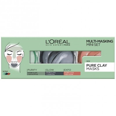 L'Oreal Multi-Masking Pure Clay Mini Set 3 x 10 ml