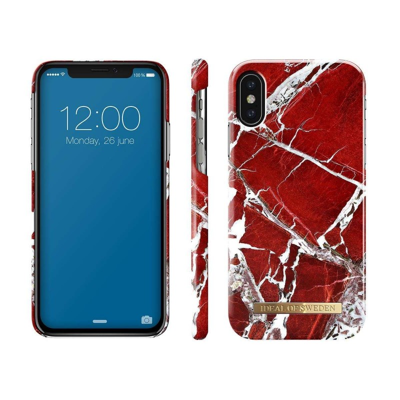 Ideal Of Sweden Fashion Case Iphone X Scarlet Red Marble