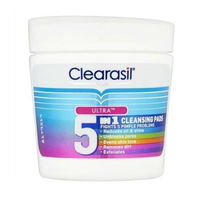 Clearasil Ultra 5in1 Cleansing Pads 65 stk