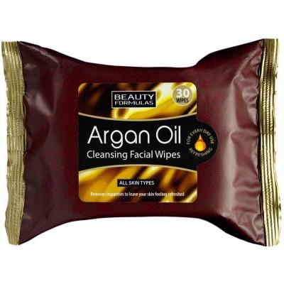 Beauty Formulas Argan Oil Cleansing Wipes 30 stk