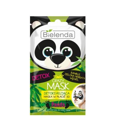 Bielenda Crazy Mask Panda Detox Sheet Mask 1 pcs