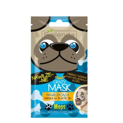 Bielenda Crazy Mask Mops Moisturizing Sheet Mask 1 kpl