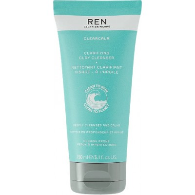 REN Clearcalm 3 Clarifying Clay Cleanser 150 ml