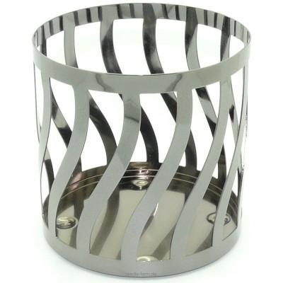 Yankee Candle  Curve Gun Metal Jar Candleholder 1 pcs