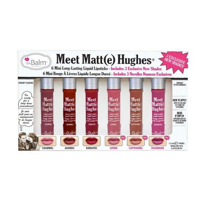 The Balm Meet Matt(e) Hughes Volume 3 Mini Lipstick Kit 6 x 1,2 ml