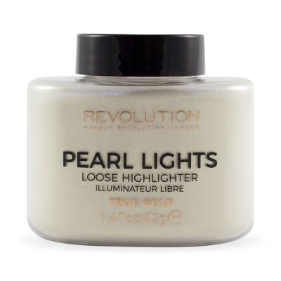 Revolution Makeup Pearl Lights Loose Highlighter True Gold 25 g