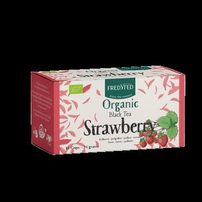 Fredsted Organic Black Tea Strawberry 16 sachets