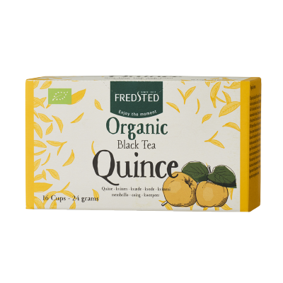 Fredsted Organic Black Tea Quince 16 påsar