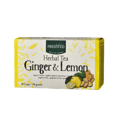 Fredsted Fredsted Herbal Tea Ginger & Lemon 20 pussia 20 pussia